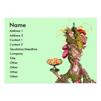 Marie Antoinette Cake & Peacock Business Card