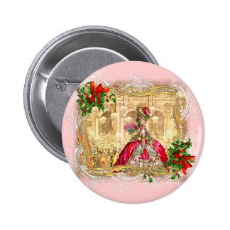 Marie Antoinette Christmas Ball Button