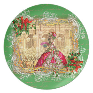 Marie Antoinette Christmas party at Versailles Party Plate