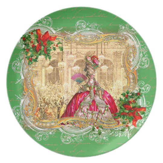 Marie Antoinette Christmas party at Versailles Plate