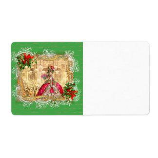 Marie Antoinette Christmas Party Versailles Shipping Label