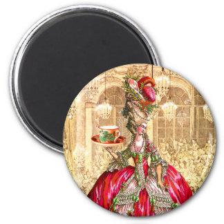 Marie Antoinette Christmas Tea Party Magnet