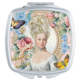 Marie Antoinette Compact Mirror Rose of Verseilles