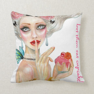 Marie Antoinette Cupcake Queen Pillow