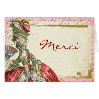 Marie Antoinette Custom Thank You Merci Note Cards
