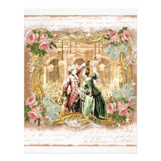 Marie Antoinette Dance Versailles in Pink Letterhead Design