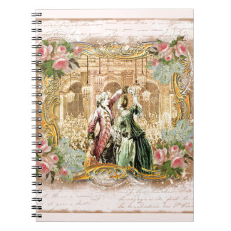 Marie Antoinette Dance Versailles in Pink Spiral Notebook