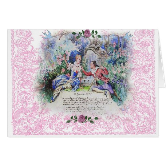Marie Antoinette French Love Letter Valentine Card