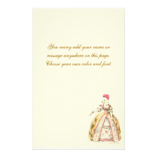 Marie Antoinette French Poodle Stationery