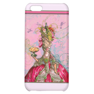Marie Antoinette Hot Pink & Peacock iPhone 5C Cases