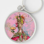 Marie Antoinette Hot Pink & Peacock Key Chains