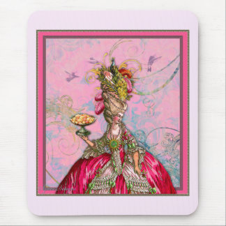 Marie Antoinette Hot Pink & Peacock Mouse Pad