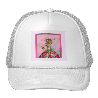 Marie Antoinette Hot Pink & Peacock Trucker Hat