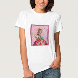 Marie Antoinette Hot Pink & Peacock Tshirt