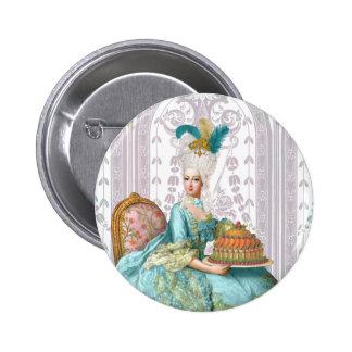 Marie Antoinette in Aqua Buttons