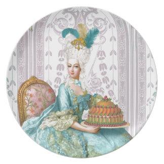 Marie Antoinette in Aqua Dinner Plates
