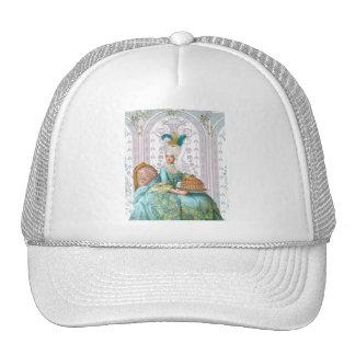Marie Antoinette in Aqua Hat