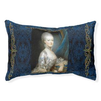 Marie Antoinette in Blue Dog Bed