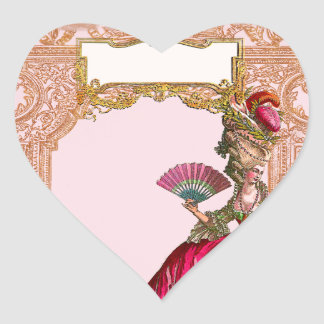 Marie Antoinette in Hot Pink Heart Sticker