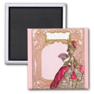 Marie Antoinette in Hot Pink Square Magnet