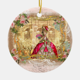 Marie Antoinette in Pink Christmas Ornament