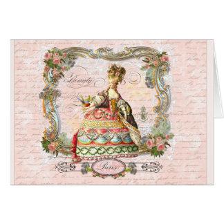 Marie Antoinette in Pink Greeting Cards