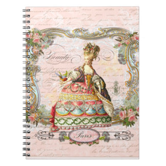 Marie Antoinette in Pink Spiral Notebooks