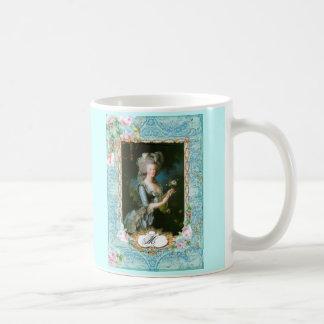 Marie Antoinette Lace Pink Roses Mug
