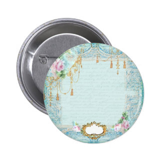 Marie Antoinette Lace Pink Roses Pinback Buttons