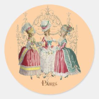 Marie Antoinette Ladies in Waiting Classic Round Sticker