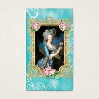 Marie Antoinette Le Brun Blue Damask Business card