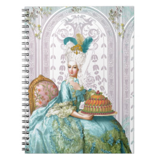 Marie Antoinette Let them eat Cake Spiral Note Book