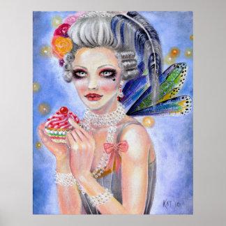 Marie Antoinette Let them eat cupcake Poster