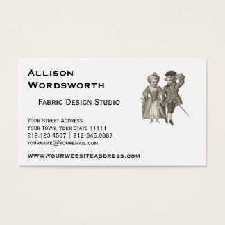 Marie Antoinette Louis XVI Romantic Couple Business Card