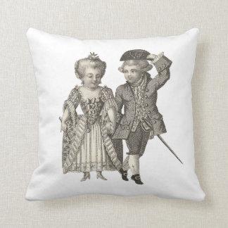 Marie Antoinette Louis XVI Vintage Costumes Throw Pillow