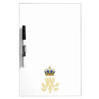 Marie Antoinette Monogram Dry Erase Board