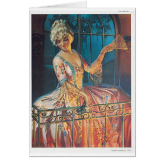 Marie Antoinette on Balcony Card