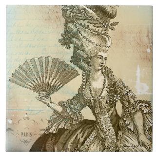 Marie Antoinette Parchment Art Tile
