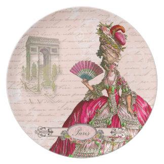 Marie Antoinette Paris & Arc de Triomphe Dinner Plates