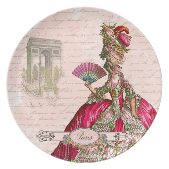 Marie Antoinette Paris & Arc de Triomphe Plate