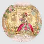 Marie Antoinette Party in Pink at Versailles Round Stickers