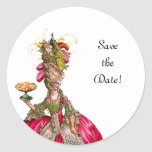"""Marie Antoinette Peacock """"Save the Date"""" Stickers"""