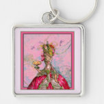 Marie Antoinette Peacocks and Cakes Keychain