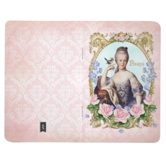 Marie Antoinette Pink Damask Antonia Rose Journal