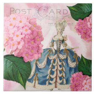 Marie Antoinette Pink Hydrangea Ceramic Tile