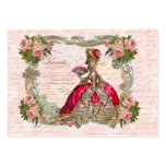 Marie Antoinette & Pink Roses Large Business Cards (Pack Of 100)