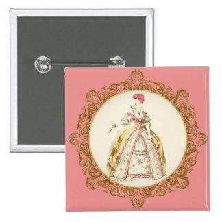 Marie Antoinette Poodle Buttons
