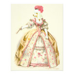Marie Antoinette Poodle Fashion Plate Stationery Personalized Invitation