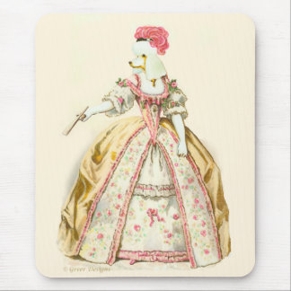 Marie Antoinette Poodle Fashion Plate Stationery Mouse Pad