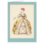 Marie Antoinette Poodle Greeting Cards